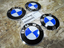 "4 Genuine Wheel Center Cap Emblems BMW OEM# 36136758569 70.0mm 2.7"" Adhesive DIY"