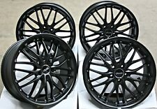 "18"" SATIN BLACK 190 ALLOY WHEELS FOR 5X112 VW BEETLE CC EOS CADDY GOLF JETTA"
