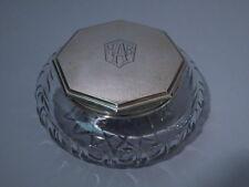 International / Watrous Powder Jar - Art Deco - American Sterling & Glass