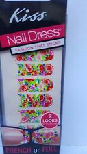 3X Kiss Nail Dress FASHION THAT STICKS#58109- RETRO -FULL OR FRENCH 22 STRIPS