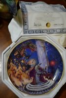 THE DRAGON MASTER ROYAL DOULTON LIMITED EDITION PLATE NUMBERED NEW IN STYROFOAM