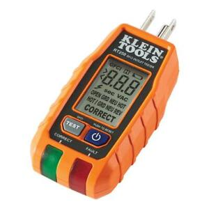 Klein Tool GFCI Receptacle Tester Test Meter Digital LCD Detect Voltage Polarity