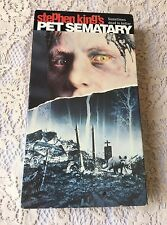 Stephen King Pet Sematary VHS 1991 Cult Classic Horror Deceased Animals Evil