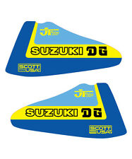 1979-1980 THICK SERIES SUZUKI RM 125 250 400 DG JT SCOTT USA TANK DECAL SET
