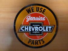 PLAQUES PUBLICITAIRE tolée age d'or de l'Automobile n°60 21cm ronde CHEVROLET