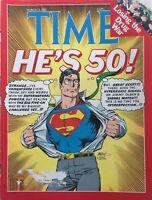 SUPERMAN TURNS 50! 1988 TIME Magazine HARRISON FORD / MIKHAIL GORBACHEV