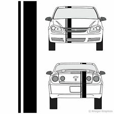 Chevy Cobalt Single Offset Rally Racing Stripes 3M Vinyl Stripe Decals