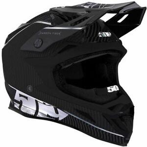 509™ Altitude Carbon Fiber Silver Snowmobile Helmet w/ Fidlock F01000500-XXX-601