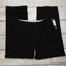 Cherokee Khaki Pants Size 16 Womens Chinos 100% Cotton Dark Brown
