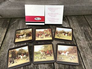 Pimpernel Set Of 6 Coasters Tally Ho