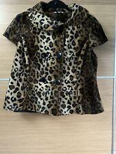New Look Asos Size 14 Leopard Print Jacket Gilet New