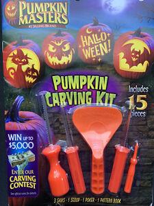 New Pumpkin Masters Pumpkin Carving Kit 10 Patterns Halloween 3 Saw 1 scooper