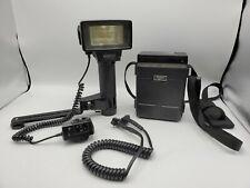 Vivitar 365 Zoom Thyristor Bounce Flash Head w/ Accessories & Battery Pack *Read