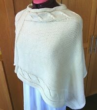 Poncho Wool Medium Cable Knit Wear Crew Neck Top Sweater Women's Marks Spencer