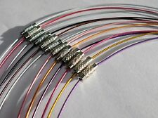 """12 Colors of 18"""" with a Barrel Clasp Neck wires Necklaces, for Pendants, Cameos"""