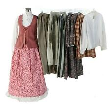 A Collection of Reenactment Civil War Camp and Day Dresses w/ Hoop Skirt Cosplay