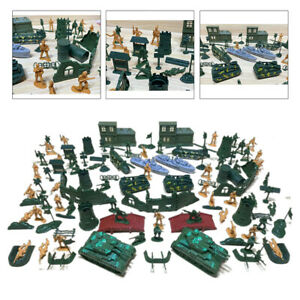 Pack of 139 Army Men Soldier 5cm Figures Playset Plastic Toy Accessories
