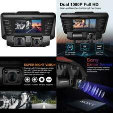 New listing Pruveeo C2 Dash Cam with Infrared Night Vision, Dual 1080P Front Dash Camera New