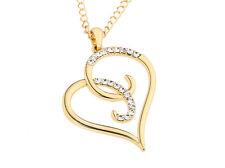 Damen Halskette Anhänger Herz Gold 24K