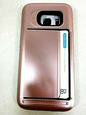 SAMSUNG GALAXY S7 CASE VRS DESIGN DAMDA CLIP ROSE GOLD WALLET CARD SLOT  NEW