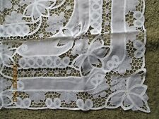 "Collectibles Linens & Textiles Vintage Tablecloth 50"" Sq Lace Crochet Nylon New"