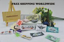 300 pieces free design high quality damask woven label garment labels U.S ship