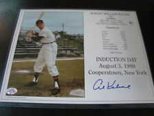 Al Kaline Autograph / Signed 8 X 10 Photo Detroit Tigers HOF Induction Day Card