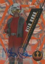 "Star Wars High Tek: Orange SW-99 Mike Quinn ""Nien Nunb"" Autograph Card #08/25"
