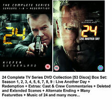 24 TWENTY FOUR COMPLETE SERIES 1-9 DVD BOXSET REDEMPTION LIVE ANOTHER DAY Season