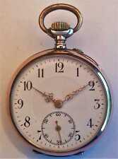 schöne kleinere antike Taschenuhr, Silber, Mediumgröße, pocket watch