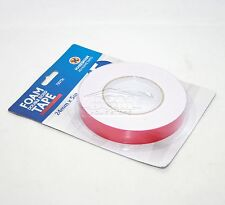 Double Sided Foam White Tape Strong Adhesive on Roll Number Plate Pad 24MM X 5M