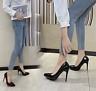 Ladies High Heels Pointed Toe Patent Leather Women Stilettos Pumps OL Sexy Shoes