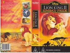 THE LION KING 11 VIDEO VHS PAL VIDEO~ A RARE FIND