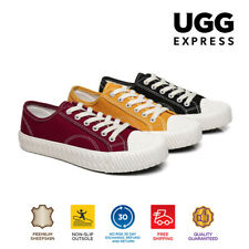 UGG Women Casual Flat Shoes Cracker Lace Up Canvas Sneaker
