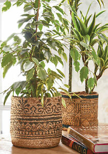 Sustainable Jute Planters | Goodweave certified ethical plant pots