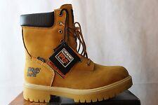 Men's Timberland Pro Safety Toe Wheat Leather Waterproof  8 Hole Boots SZ- 9 M