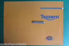 TRIUMPH SPORT 2002   MOTO MOTORCYCLE DEPLIANT  CATALOGO BROCHURE CATALOGUE