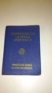 Langenscheidts Universal-Wôrterbuch - Französisch-Deutsch - Auflage 1960
