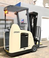 "2009 RC5500 Crown Narrow Aisle Electric Forklift 3,000 Lb Cap with 84""/190"" H"