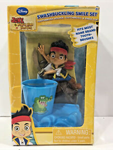 Disney's Jake and The Neverland Pirates Toothbrush, Holder & Rinse Cup Set New