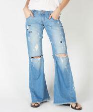 NWT One Teaspoon Sz 22 Westenders Low Short Rise Blue Moon Relaxed Wide Leg Jean