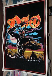 vintage 1980s rare dio black light poster Velvet felt full size black sabbath