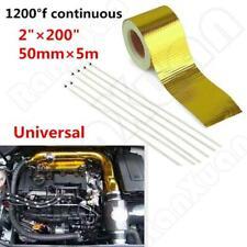 5M 1200°f Continuous Car Auto High Temperature Heat Shield Wrap Protector Tape