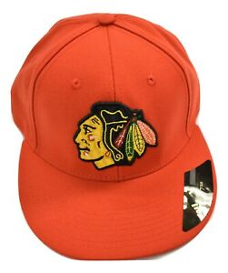 adidas NHL Mens Chicago Blackhawks Hockey Fitted Hat Cap New Pick Size