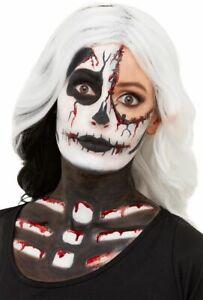 Skeleton Face Paint Make Up Kit Glow in the Dark Halloween Fancy Dress Makeup