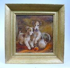 Art Deco Bild um 1920 Terrier