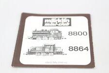 QUADERNO ACCOMPAGNAMENTO ISTRUZIONI DESCRIZIONE Locomotiva 8800 8864