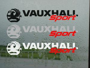 Vauxhall Sport, Motorsport decals Stickers Insignia OPC Astra Corsa Vectra Mokka