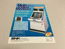 SNK NEO GEO Multi Video System MVS MVS-U1 arcade flyer handbill Japan