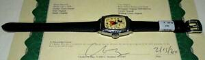 """NMINT DISNEY 1939 INGERSOLL MICKEY MOUSE WATCH""""+KEEPS TIME-NEW BAND-SERVICED+COA"""